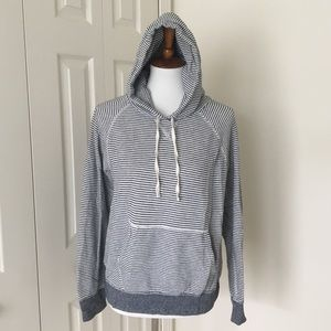 🆕J.Crew Striped Pullover Hoodie